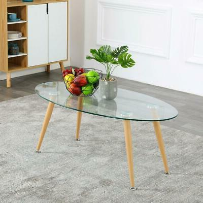 modern oval coffee table glass design contemporary