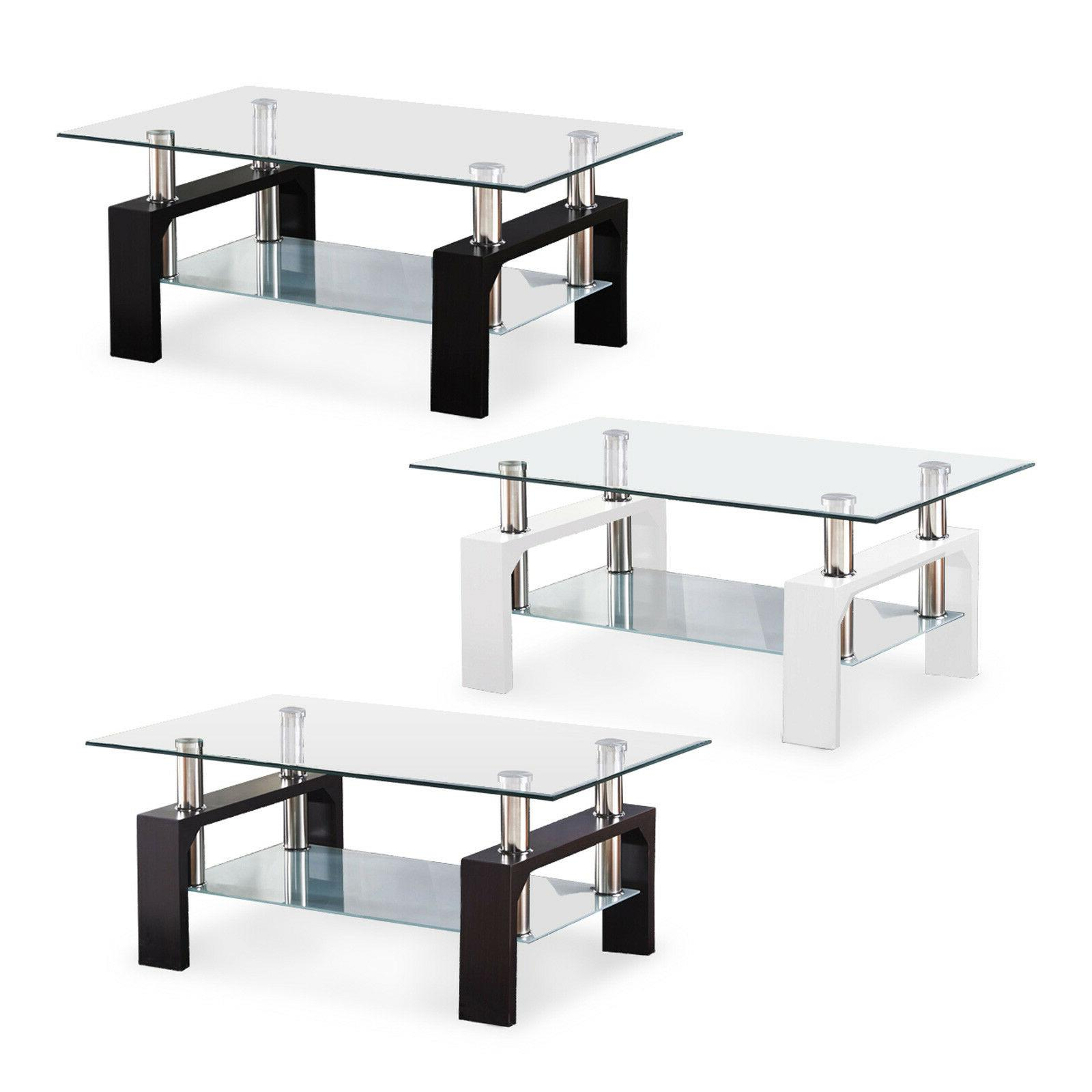 Modern Chrome Coffee Table Table w/ Furniture
