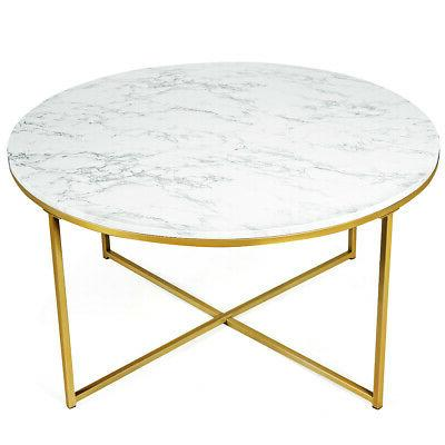 modern round accent side end coffee table
