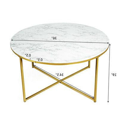 Modern End Coffee Faux Marble w/ Living
