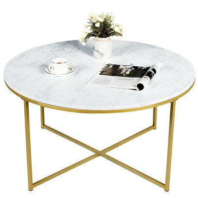 End Coffee Marble Living Room