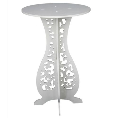Modern Round Coffee Side End Table Living Room Furniture White