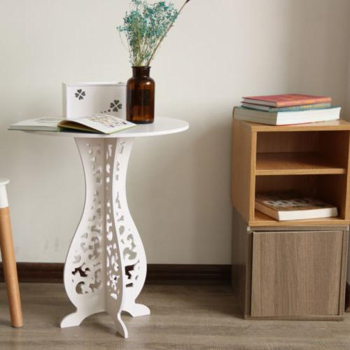 modern round coffee side end table living