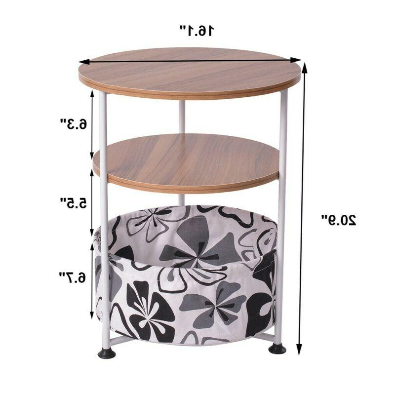 Modern Round Coffee Small Side End Room Table
