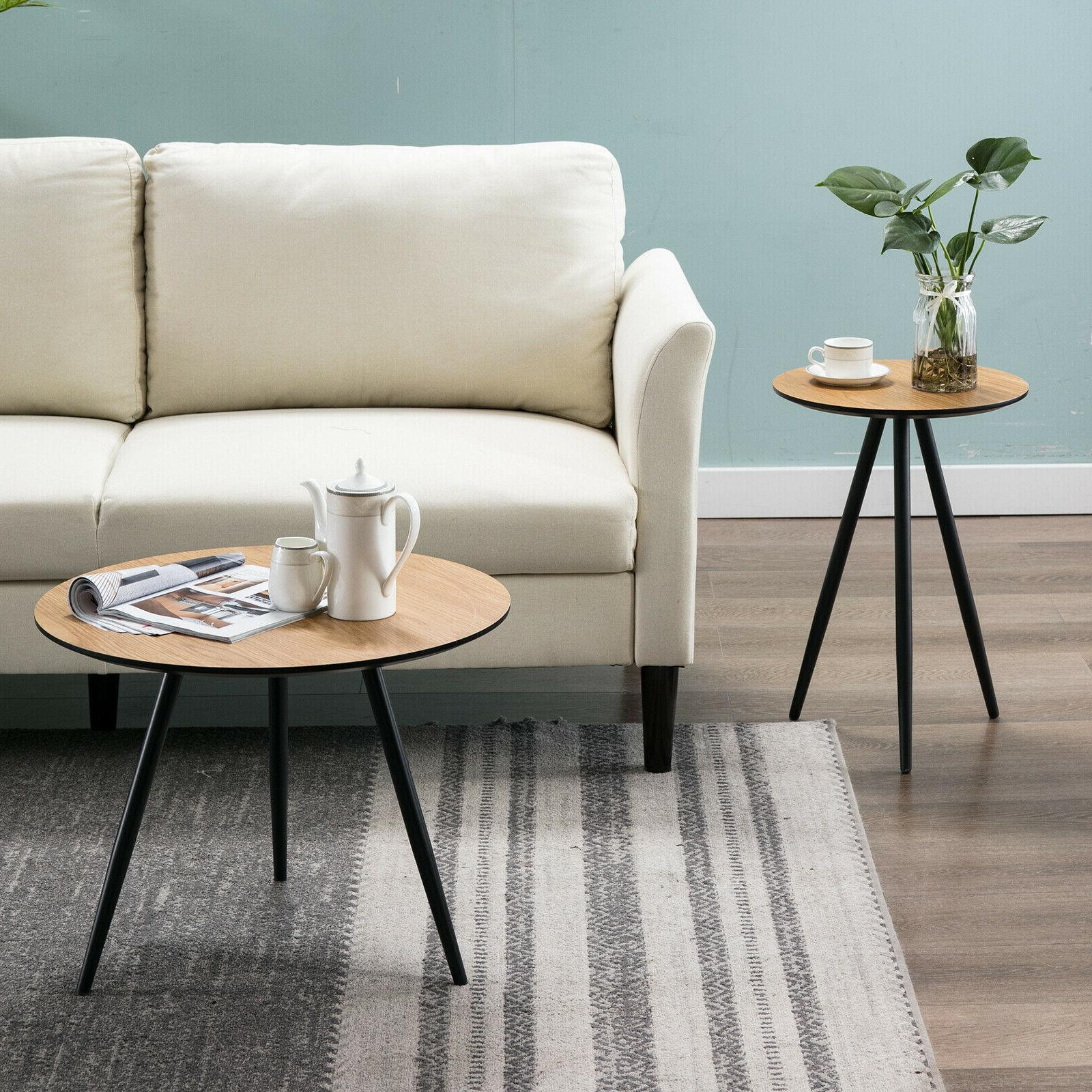 Modern Round Small Sofa Side End Side Legs Room