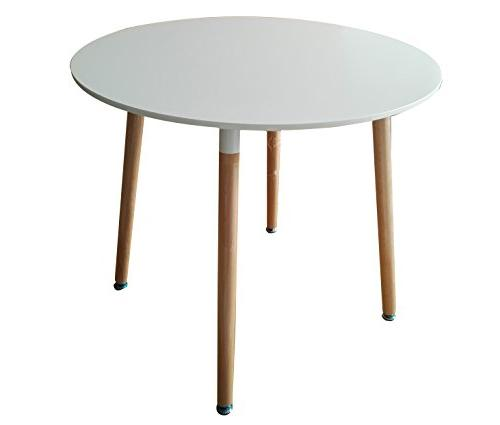 modern round white dining coffeetable