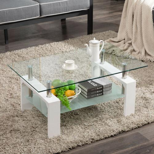 modern side coffee table glass top w