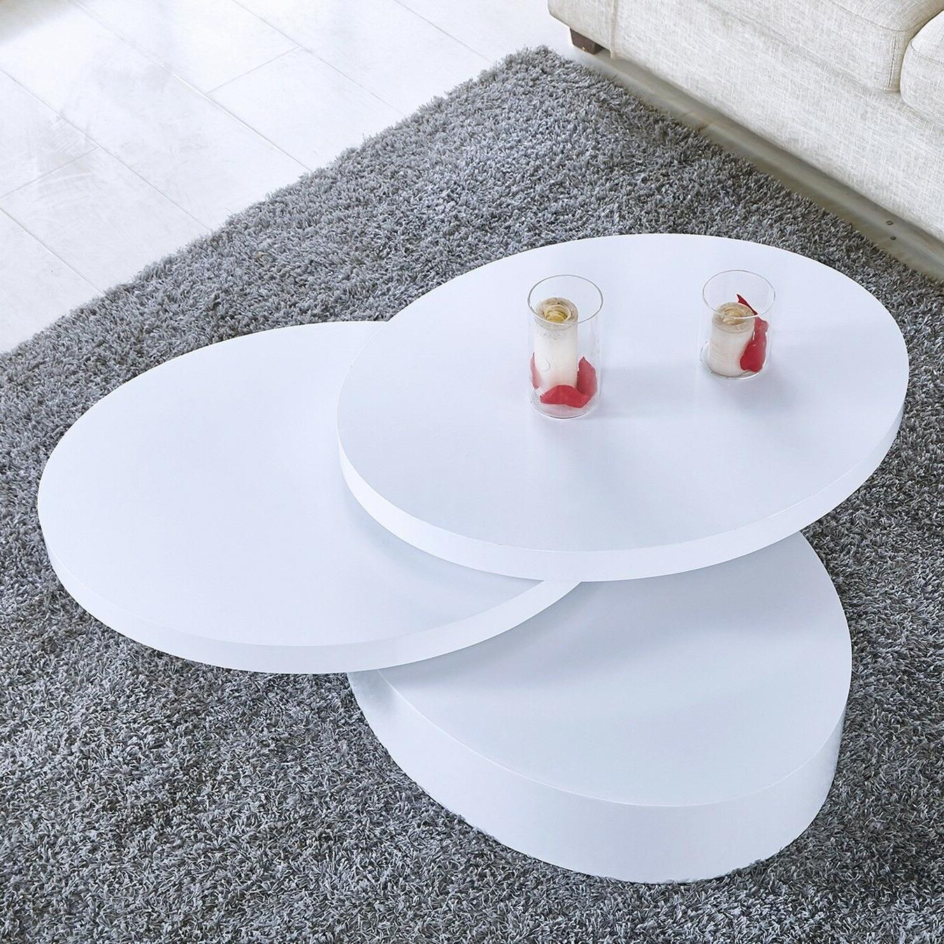 Modern White Coffee Table Room Furniture