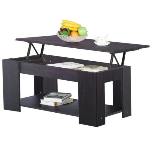 modern wood lift top coffee end table