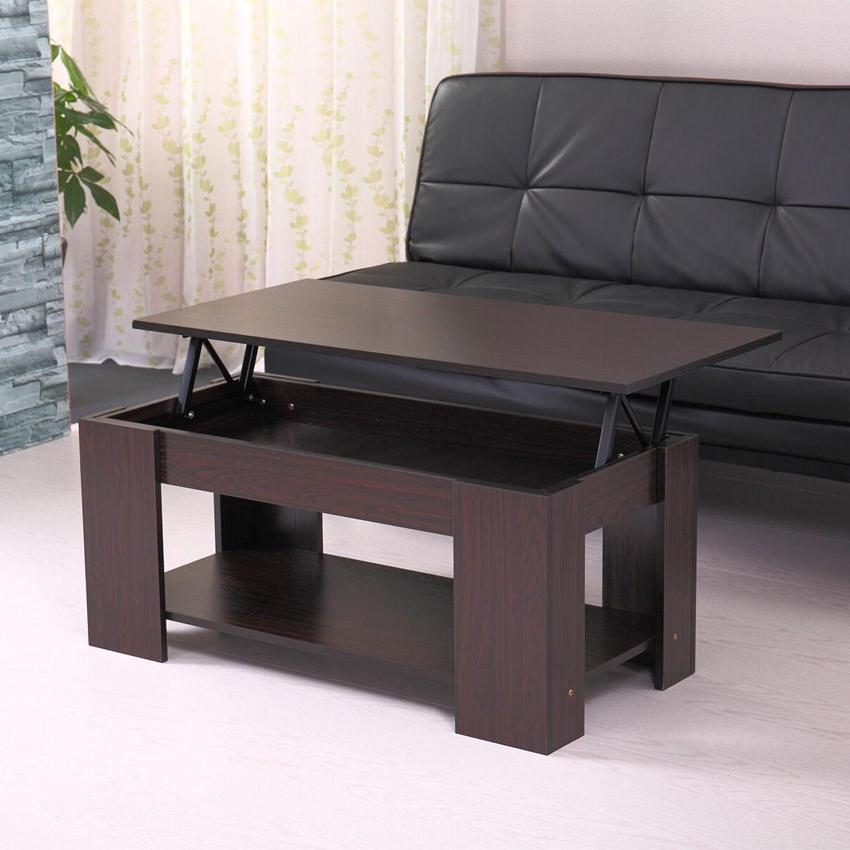 Modern Wood Coffee Table W/ Space Walnut