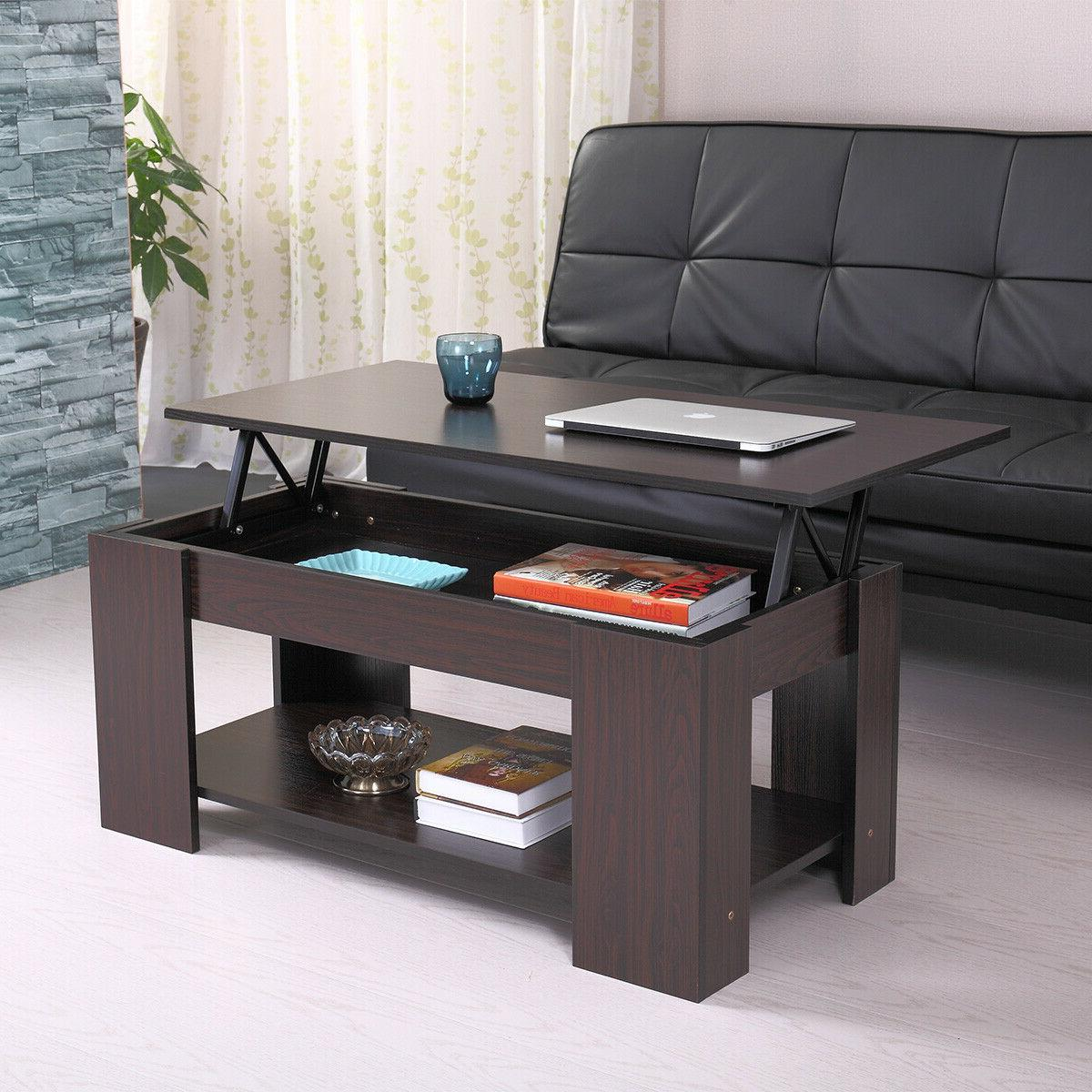 modern wood lift top coffee table w
