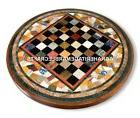 Mosaic Cubes Marble Round Chess Coffee Table Creative Work O