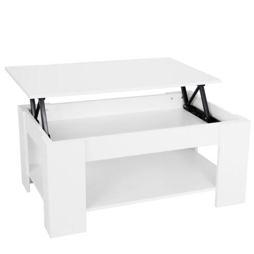 furniture white lift up hard storage shelf
