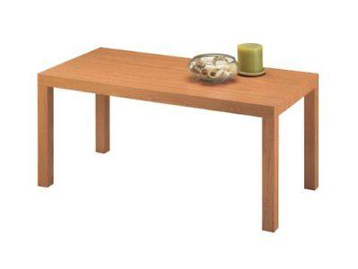 new parsons modern coffee table natural stain