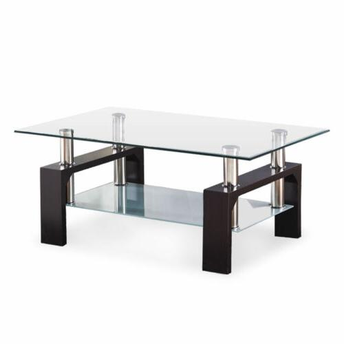 New Rectangular Tempered Glass Coffee Living Room Furniture