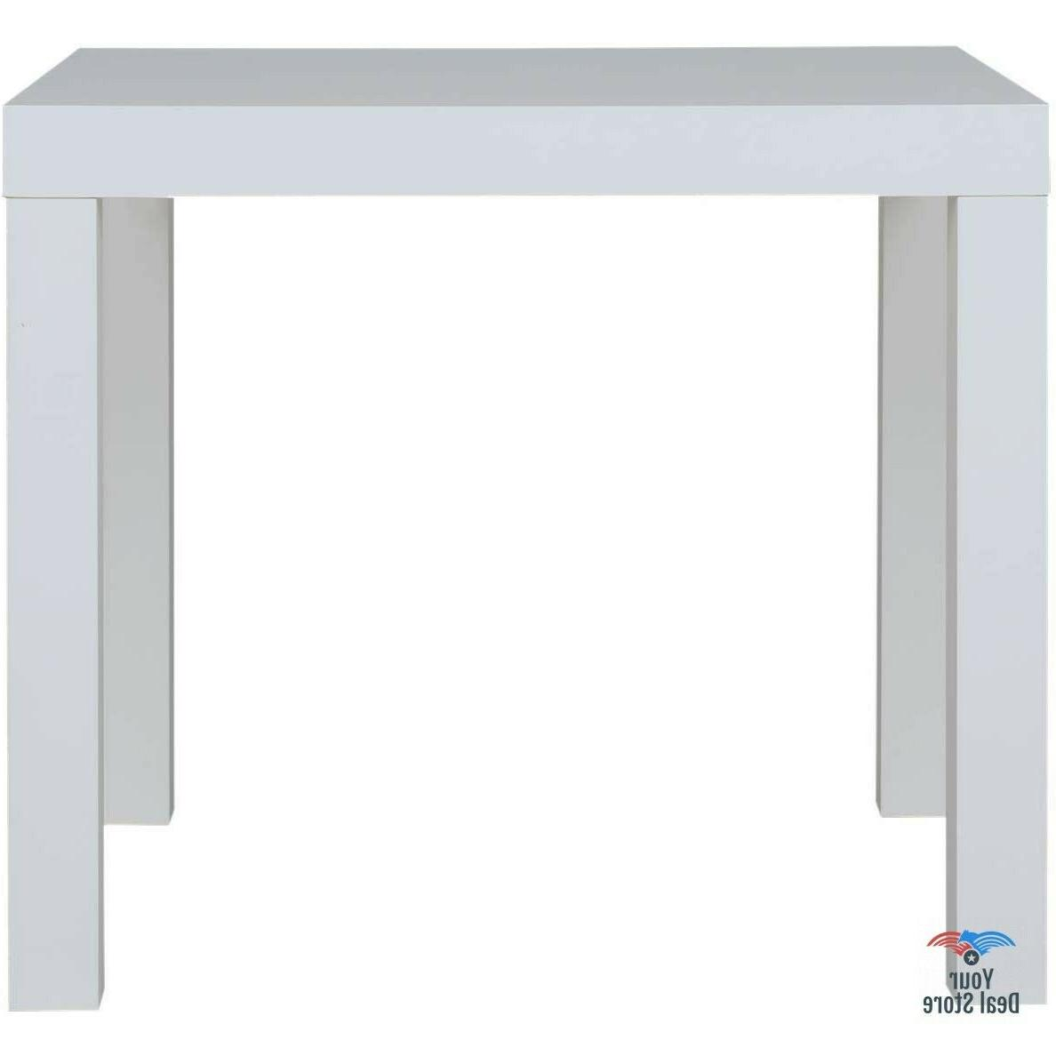Night Table White Wood End