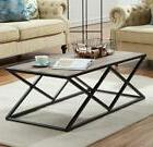 O&K Furniture Industrial Coffee Table for Living Room, Moder
