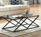 O&K Furniture Modern Industrial Cocktail Coffee Table with B