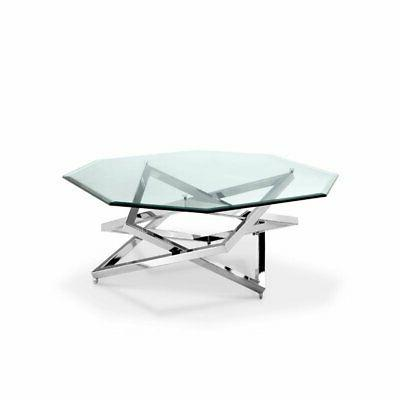octagonal coffee table nickel