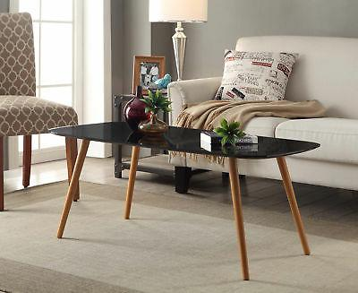 oslo coffee table 203583bl black finish