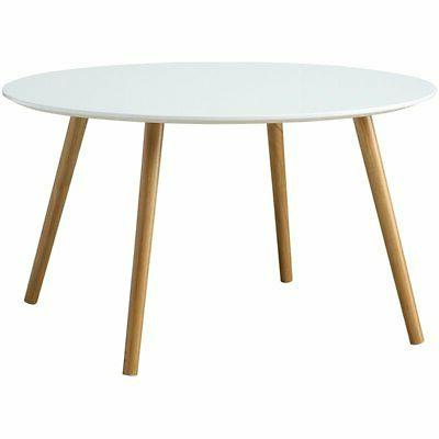 Convenience Concepts Oslo Glossy White Round Coffee Table -