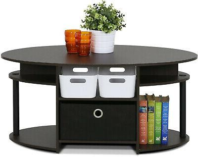 oval coffee table stand living room modern