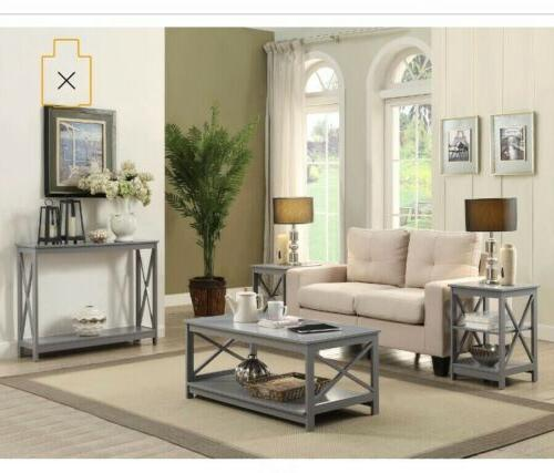 Convenience Oxford Coffee Table Multiple Colors