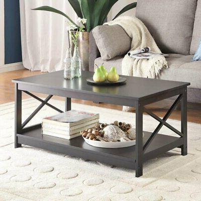 oxford rectangle coffee table