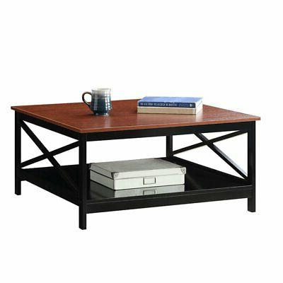 Convenience Concepts Oxford Square Coffee Table in Cherry an