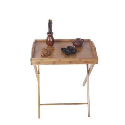 Portable Tray Table Stand Dinner Coffee Kitchen Wood