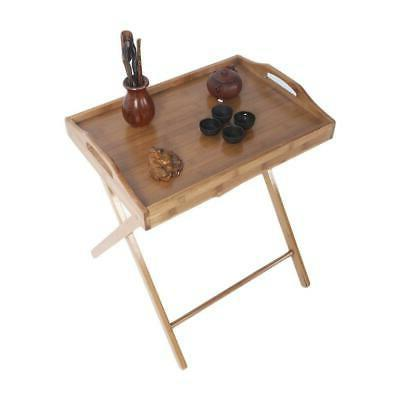 Portable Table Stand Dinner Kitchen Wood Furniture Picnic