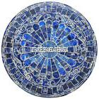Random Marble Coffee Table Top Lapis Precious Random Inlay H