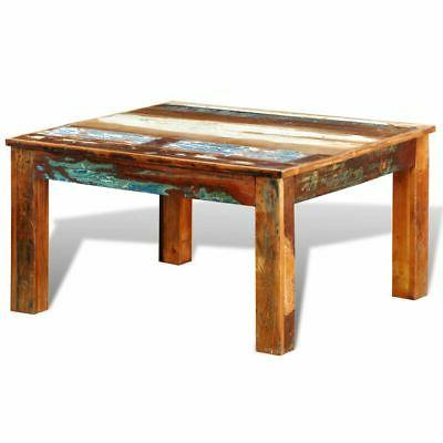 vidaXL Reclaimed Wood Coffee Table Square Antique-style
