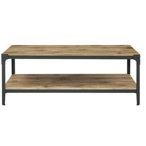 rectangle coffee table 48 with metal base