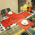 Rectangular Coasters Placemats Coffee Table Pad Party Decor