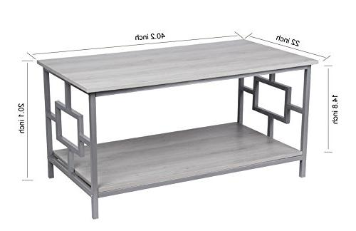 GIA with Shelf - Oak Gray Easy Assemble - Heat Wooden Top and