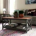Rectangular Coffee Table Red Cherry Wood Modern Living Room
