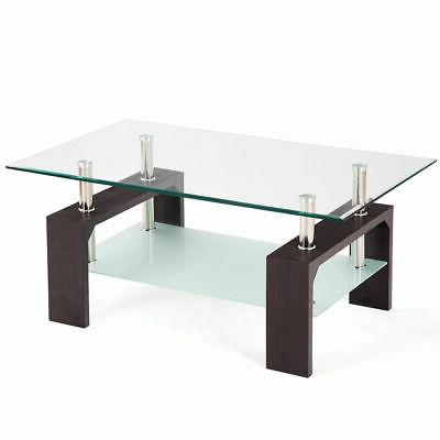 Rectangular Tempered Table Living