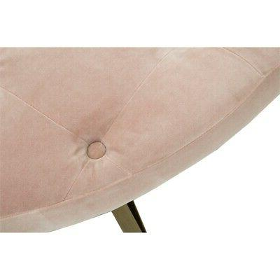 Rochelle Upholstered Coffee Table in Blush
