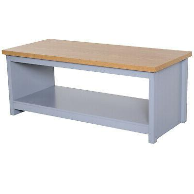 HomCom Coffee Table with for