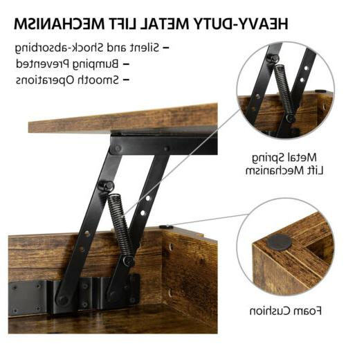 Table w/Hidden Compartment&Storage Shelf For
