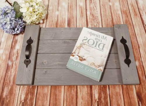 Rustic Serving Tray Handmade x Coffee Table Wood Pallet