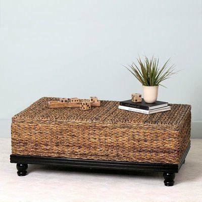 s arbor brown abaca textured coffee table