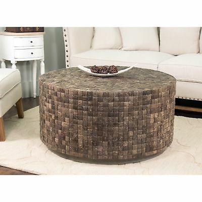 s decorative easley brown round coffee table