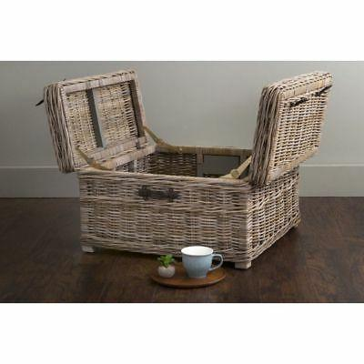 East Harbor Grey Rattan Square Coffee Table