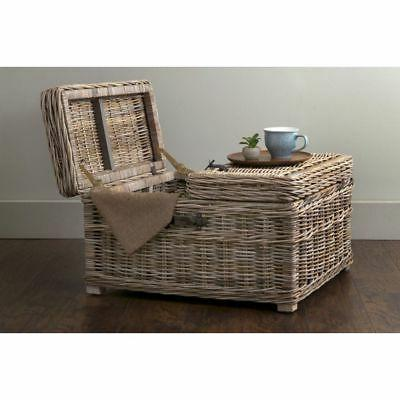 East Grey Rattan Square Table