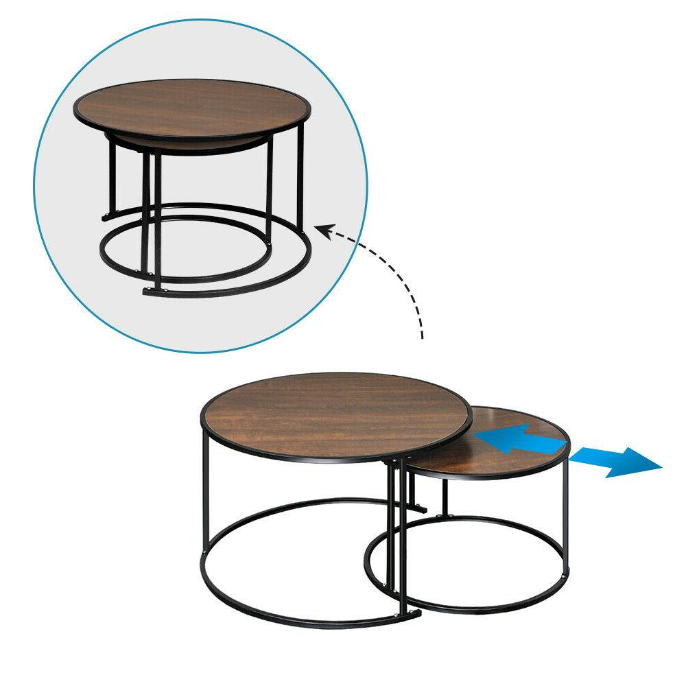 Set of Round Table Side Table Leg Living Room