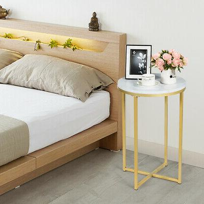 Set Side End Nightstand Faux
