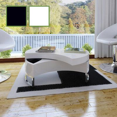 vidaXL Coffee Table High Gloss Shape-Adjustable Storage Furn