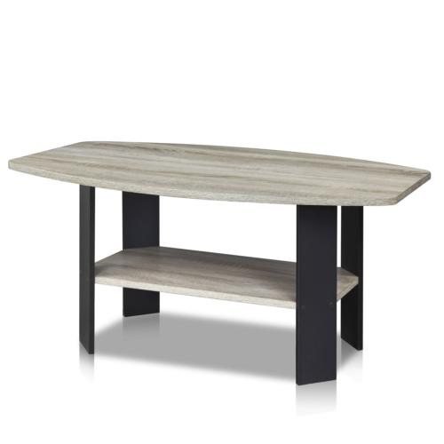 Furinno Simple Design Coffee Table Oak Grey/Black